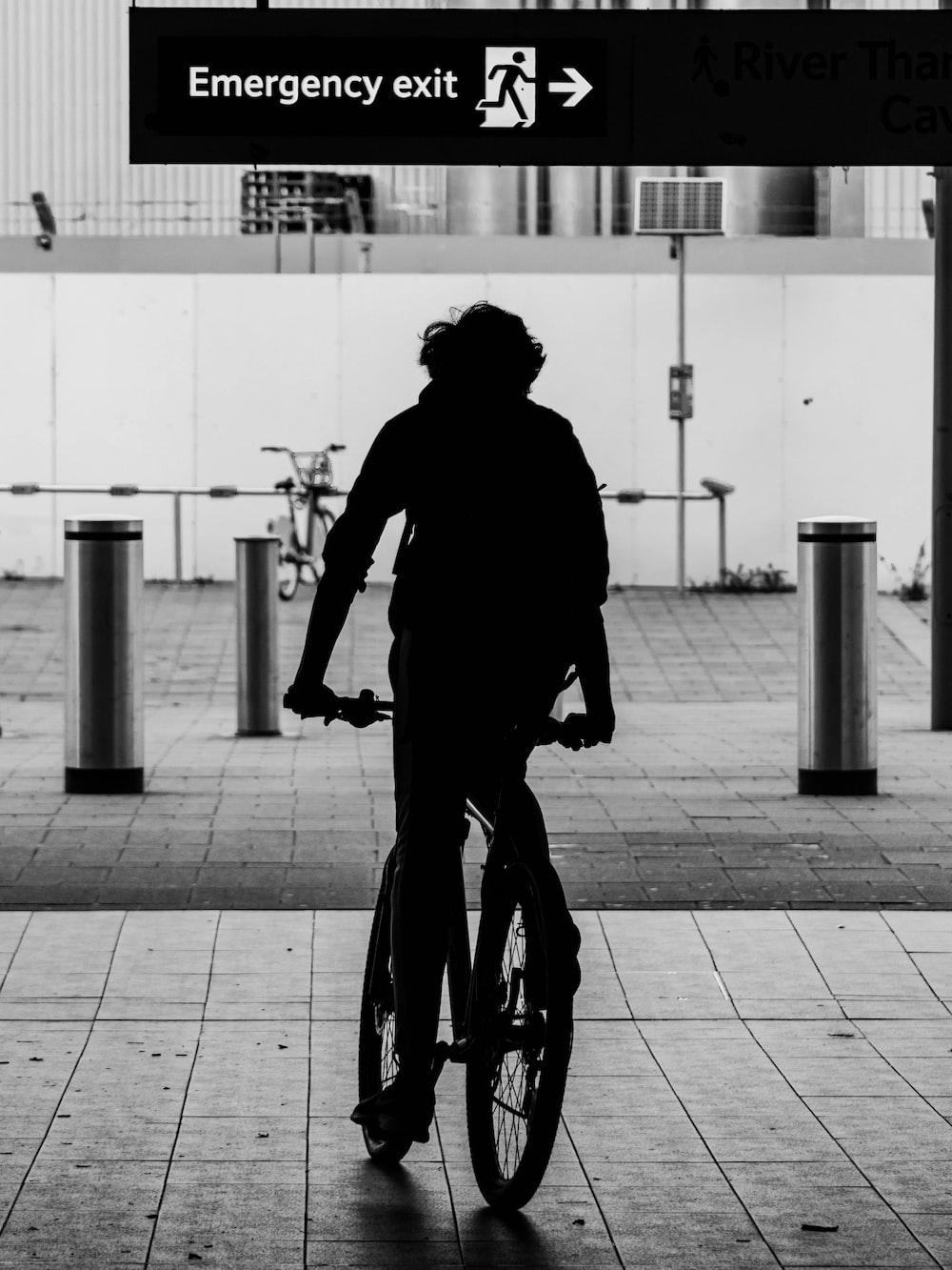 silhouette of man riding BMX bike screenshot