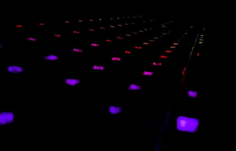 multicolored gaming keyboard
