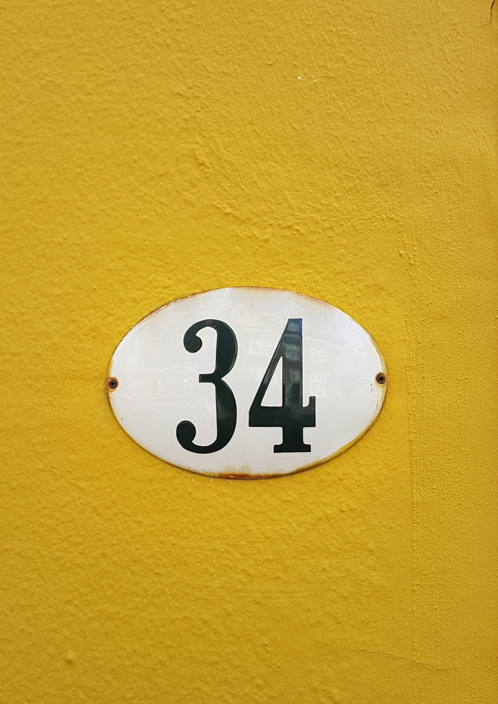 number 34 wall signage
