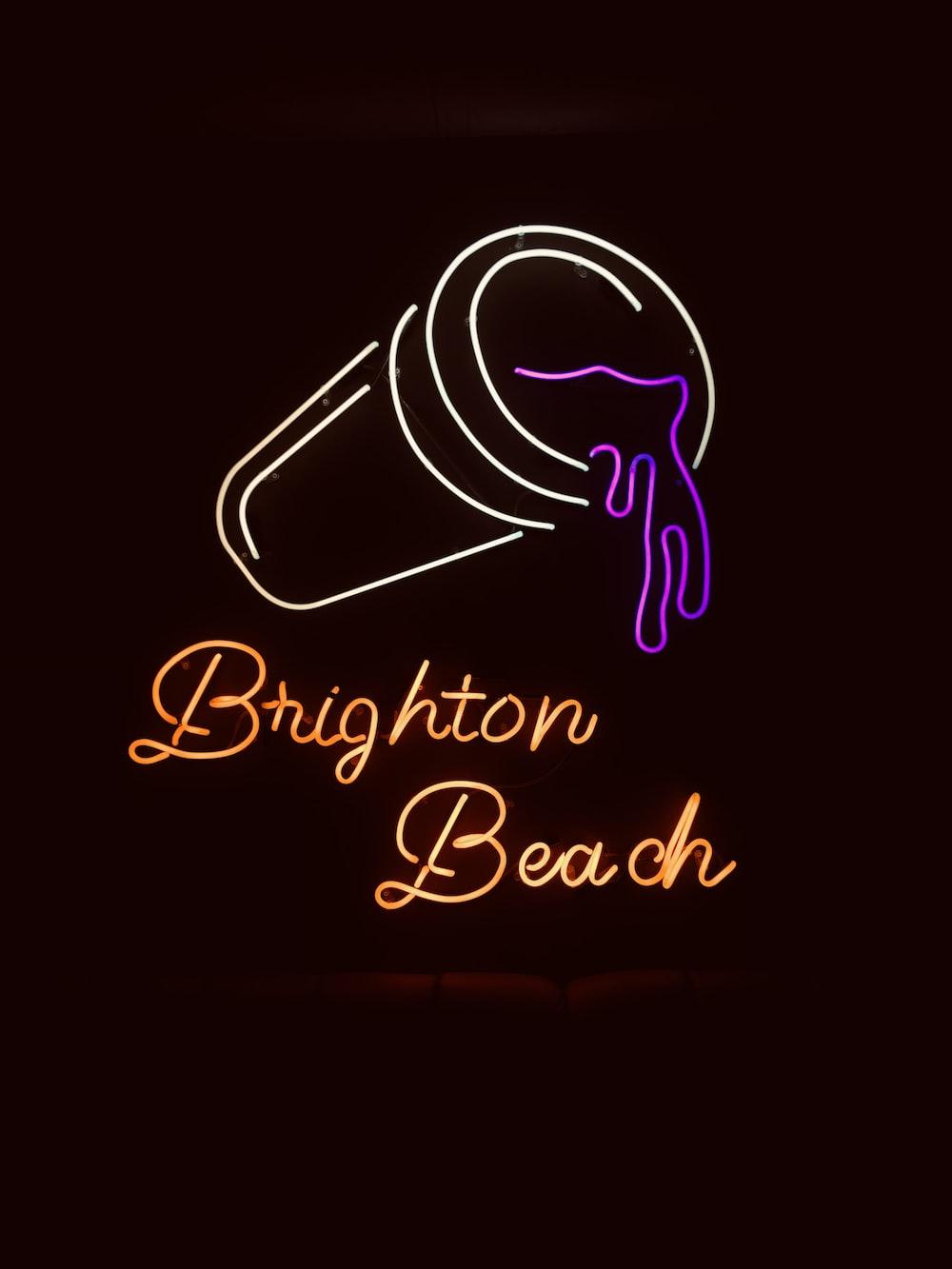 brighton beach neon signage