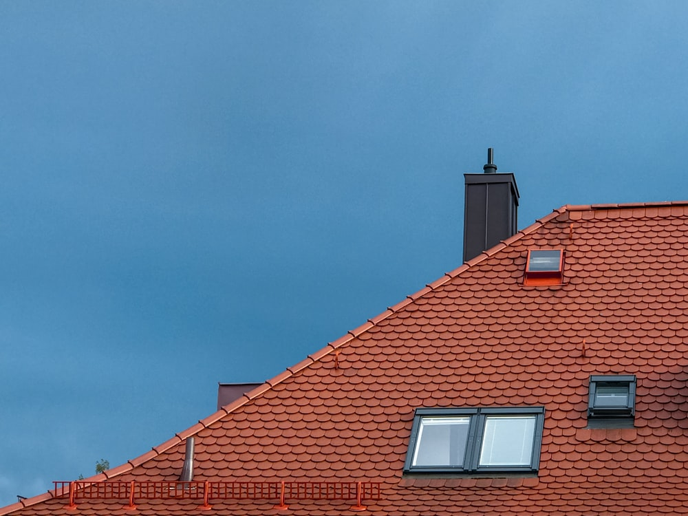 red brick roof