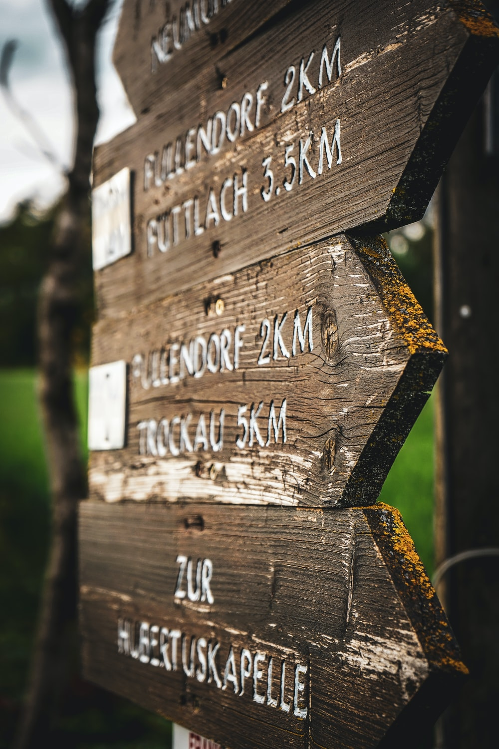 brown wooden signage