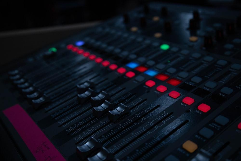 black audio equalizer