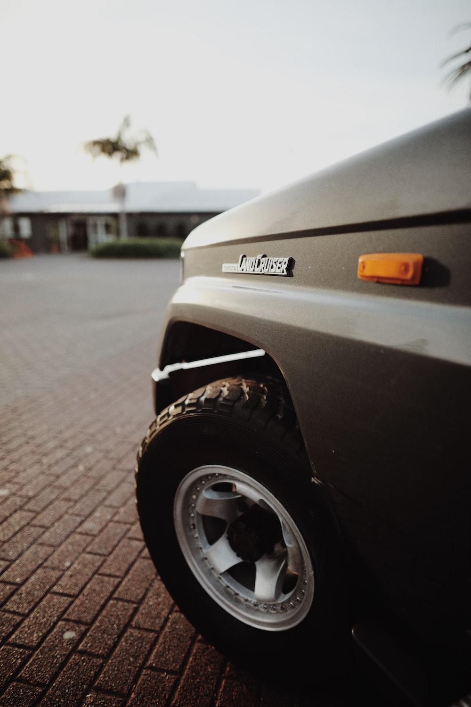 grey vehicle