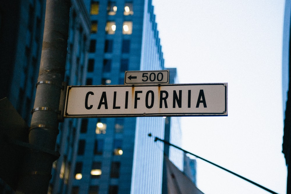 white 500 California road sign