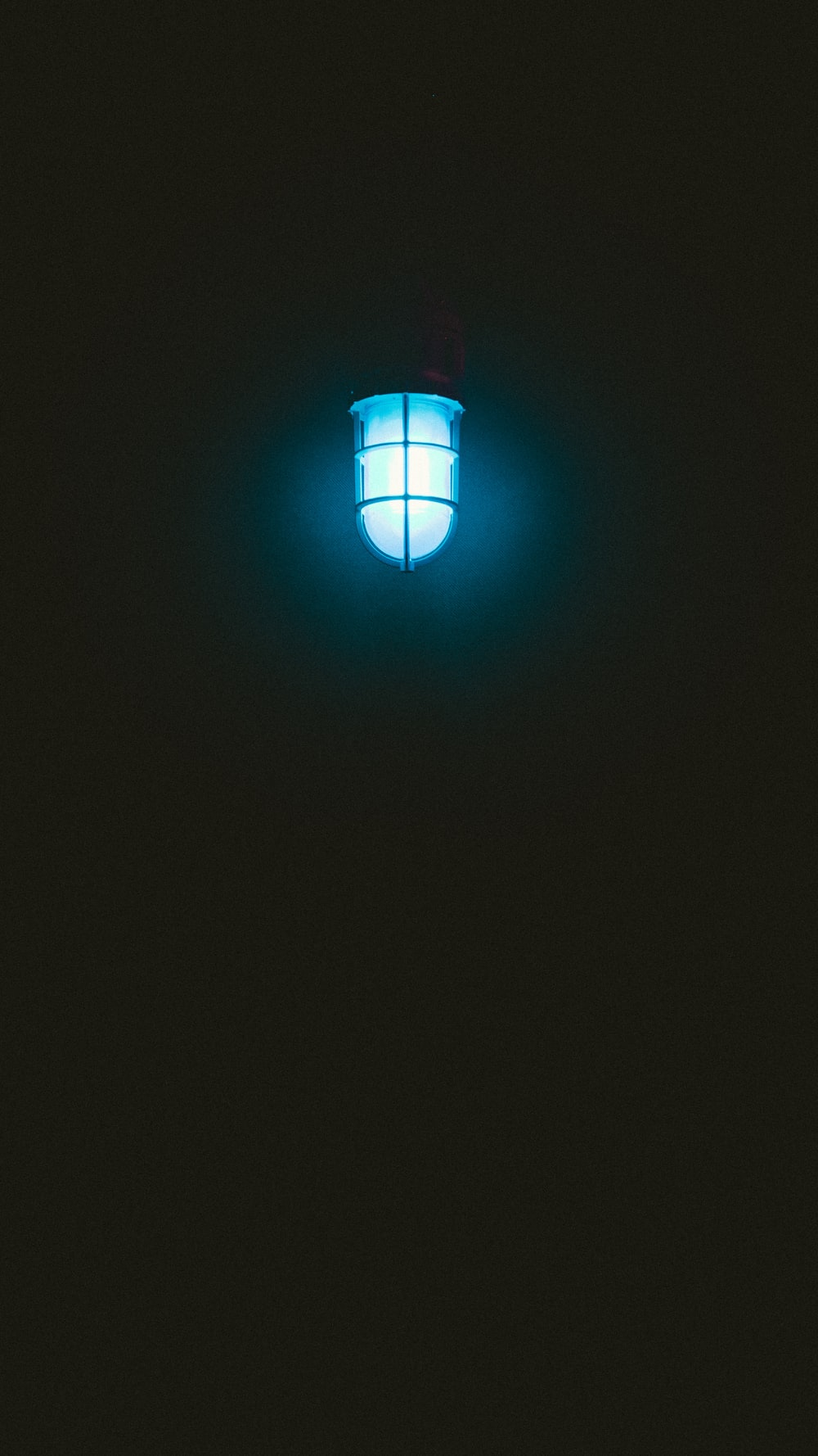 lighted blue pendant lamp