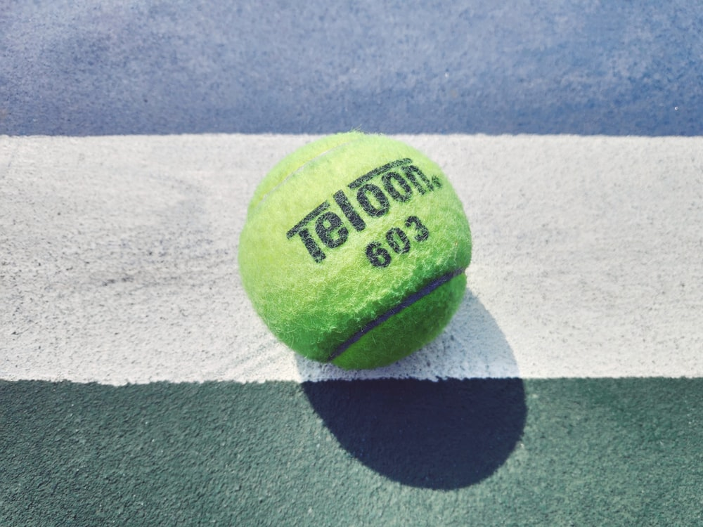 green Teloon tennis ball