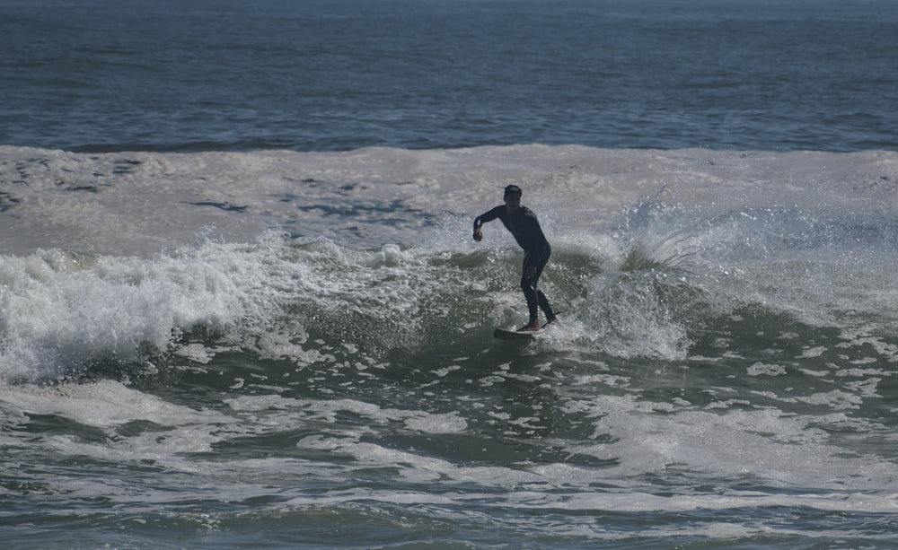 man surfing on ocean