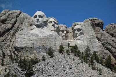 mount ruhsmore presidents zoom background