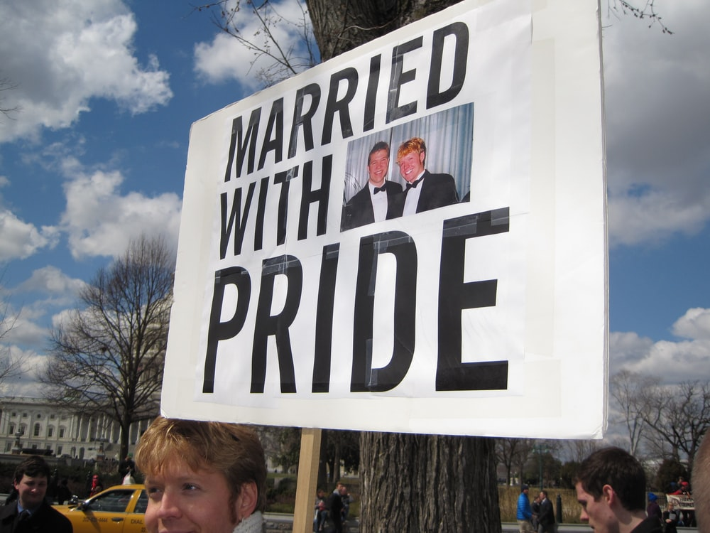 Married with Pride signage