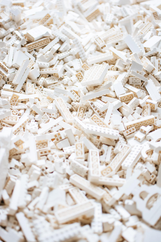 white block toy lot