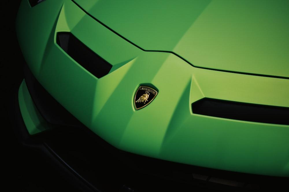 green Lamborghini sports car