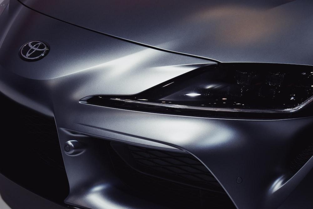 closeup photo of gray Toyota vehicle