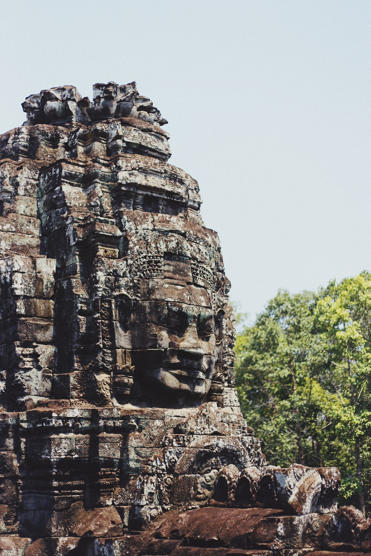 gray temple ruin