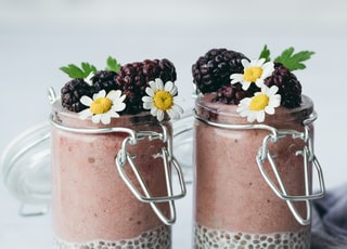 two berry smoothies