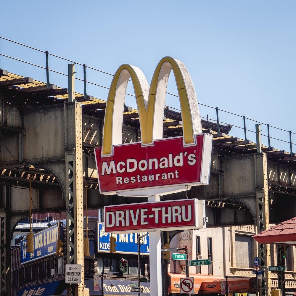 McDonald's restaurant signage