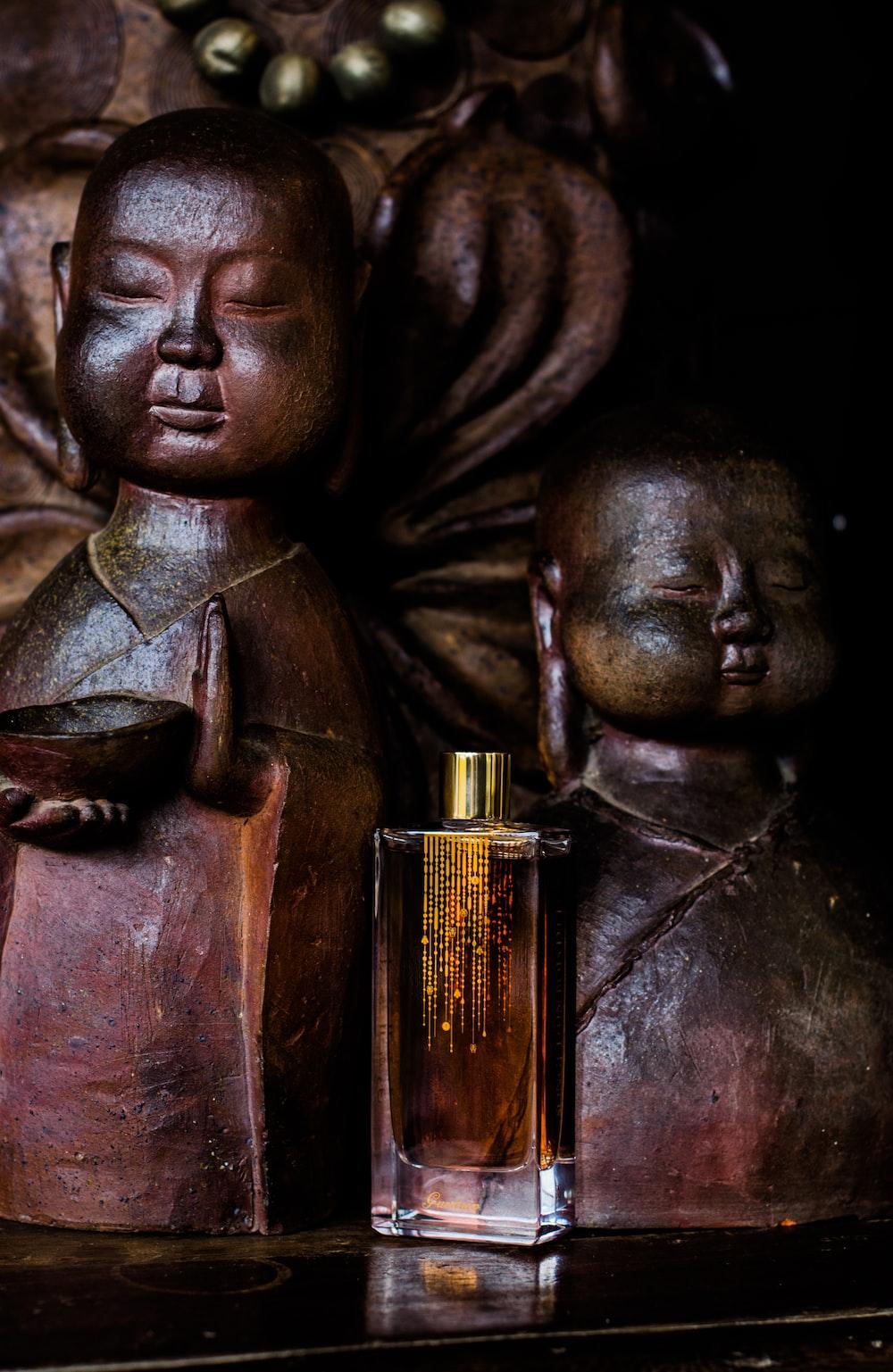yellow glass fragrance bottle