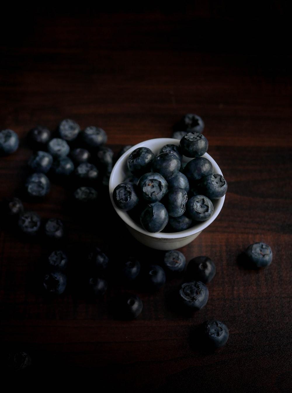 bowl of blue berries