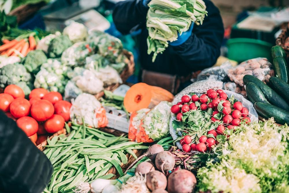 assorted vegetables on display