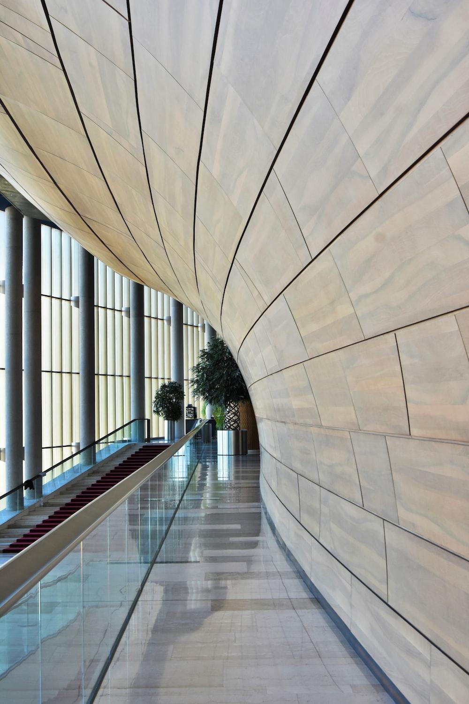 empty building hallway interior