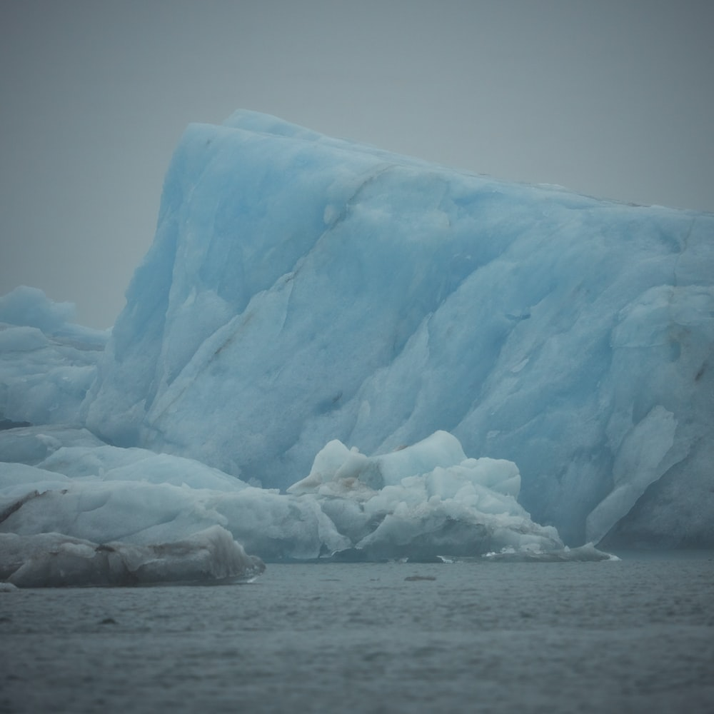 glacier ice during daytime