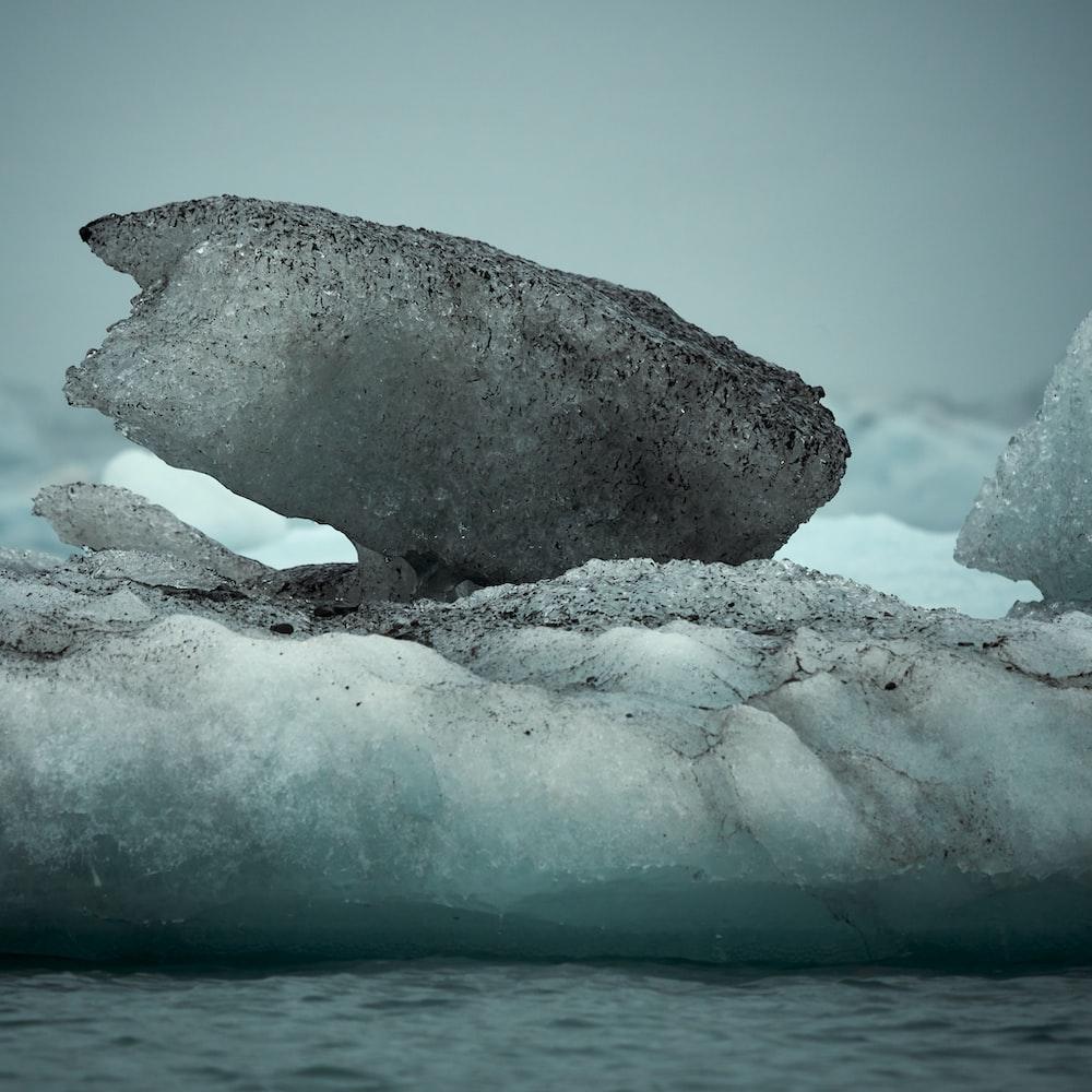 gray ice burgs