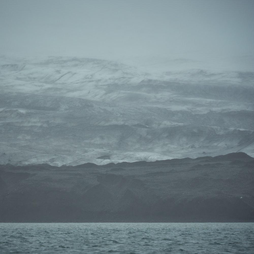mountain near ocea