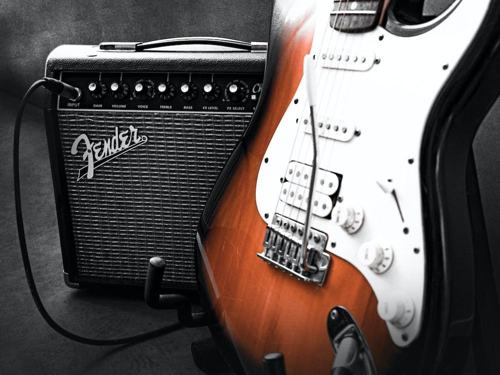 black Fender amplifier