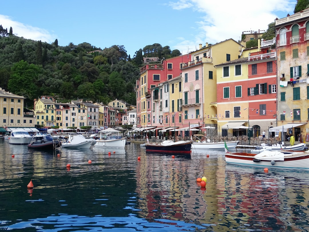 Wow.  Portofino Italy. Approaching it by boat it made me go silent in awe at its beauty.  This photo makes me feel happy and relaxed.
