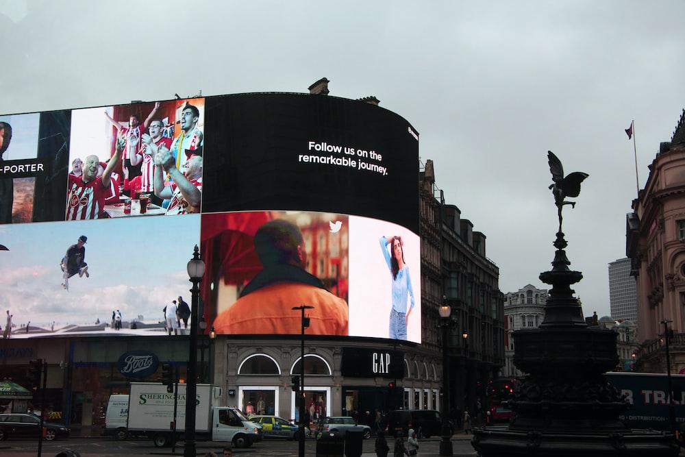 monitor displaying girl