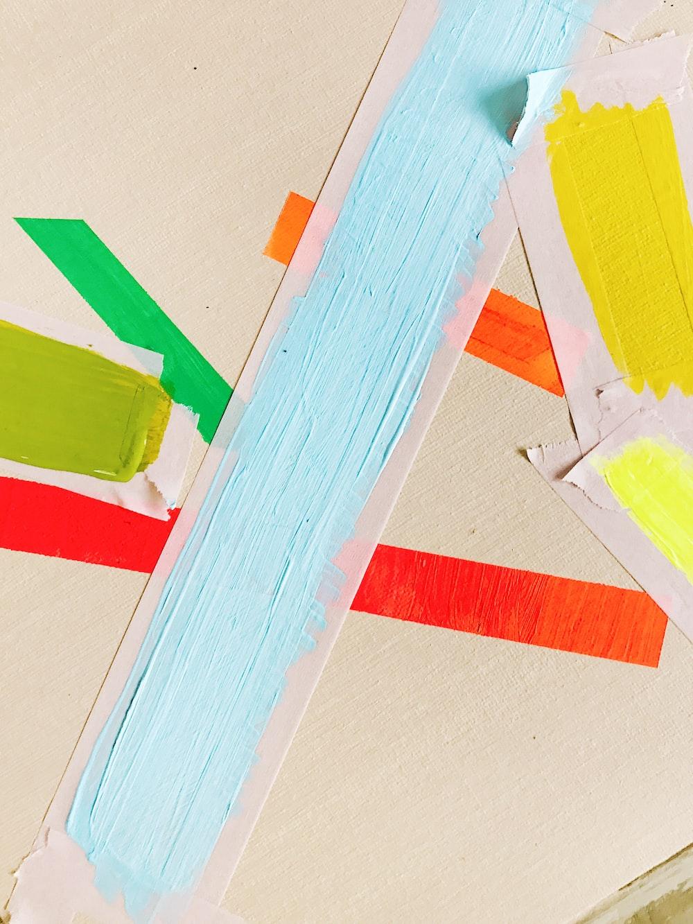 multicolored paints