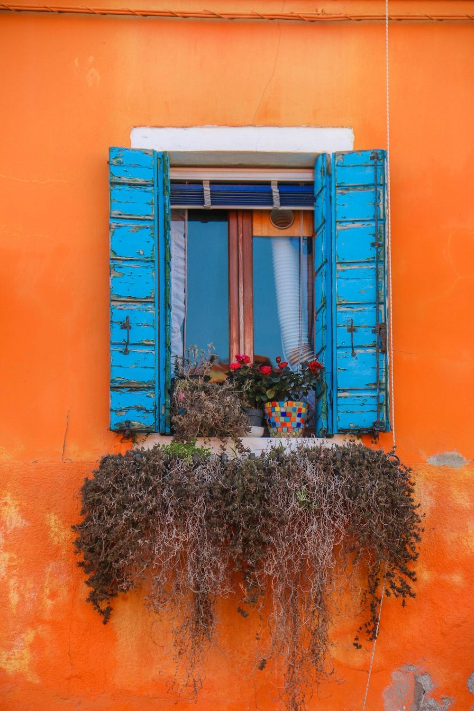 opened blue window