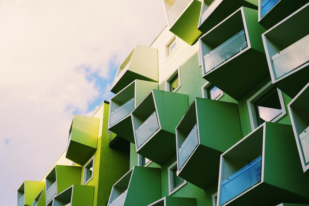 green cube organizer