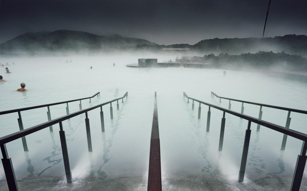 bridge on body of water