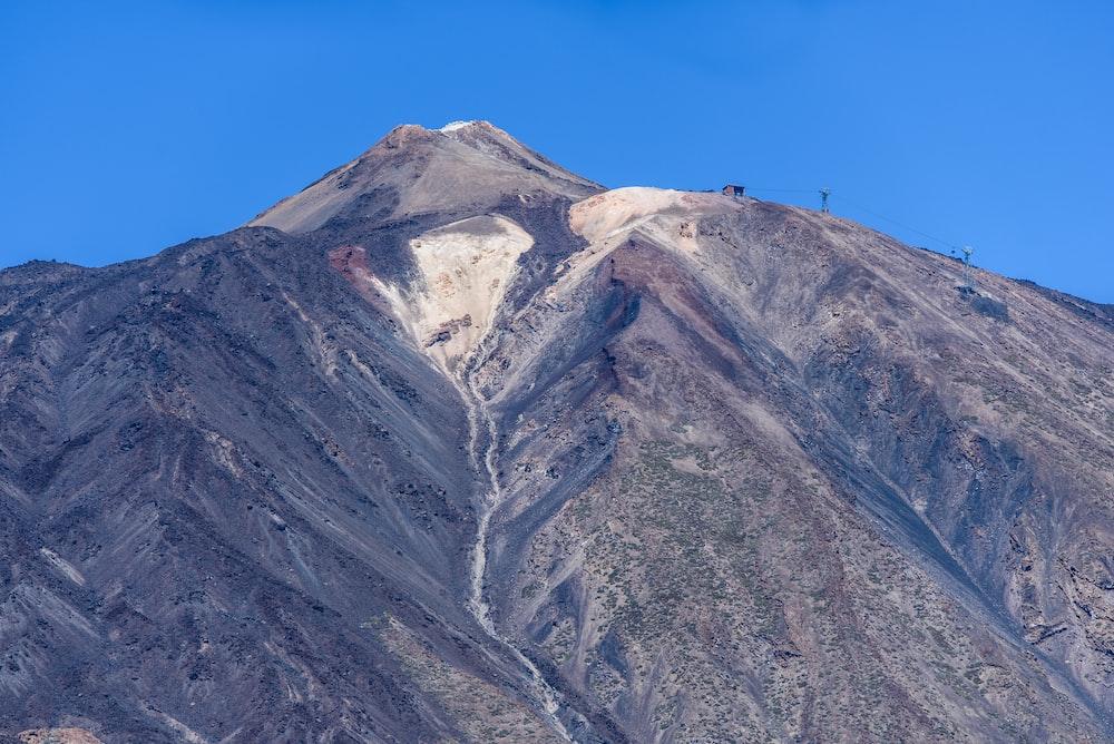 mountain view under blue skies