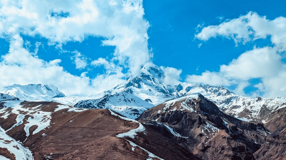 landscape photography of snow mountain