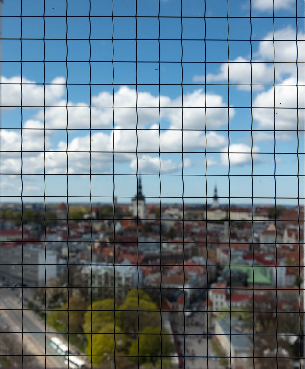 town through wire screen