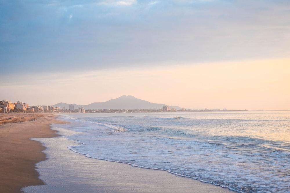 seashore near city