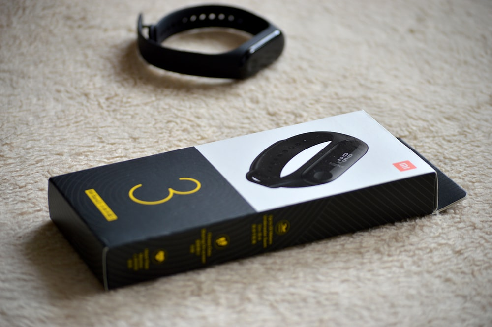 black fitness tracker band