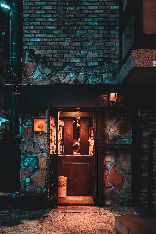 brick house at night