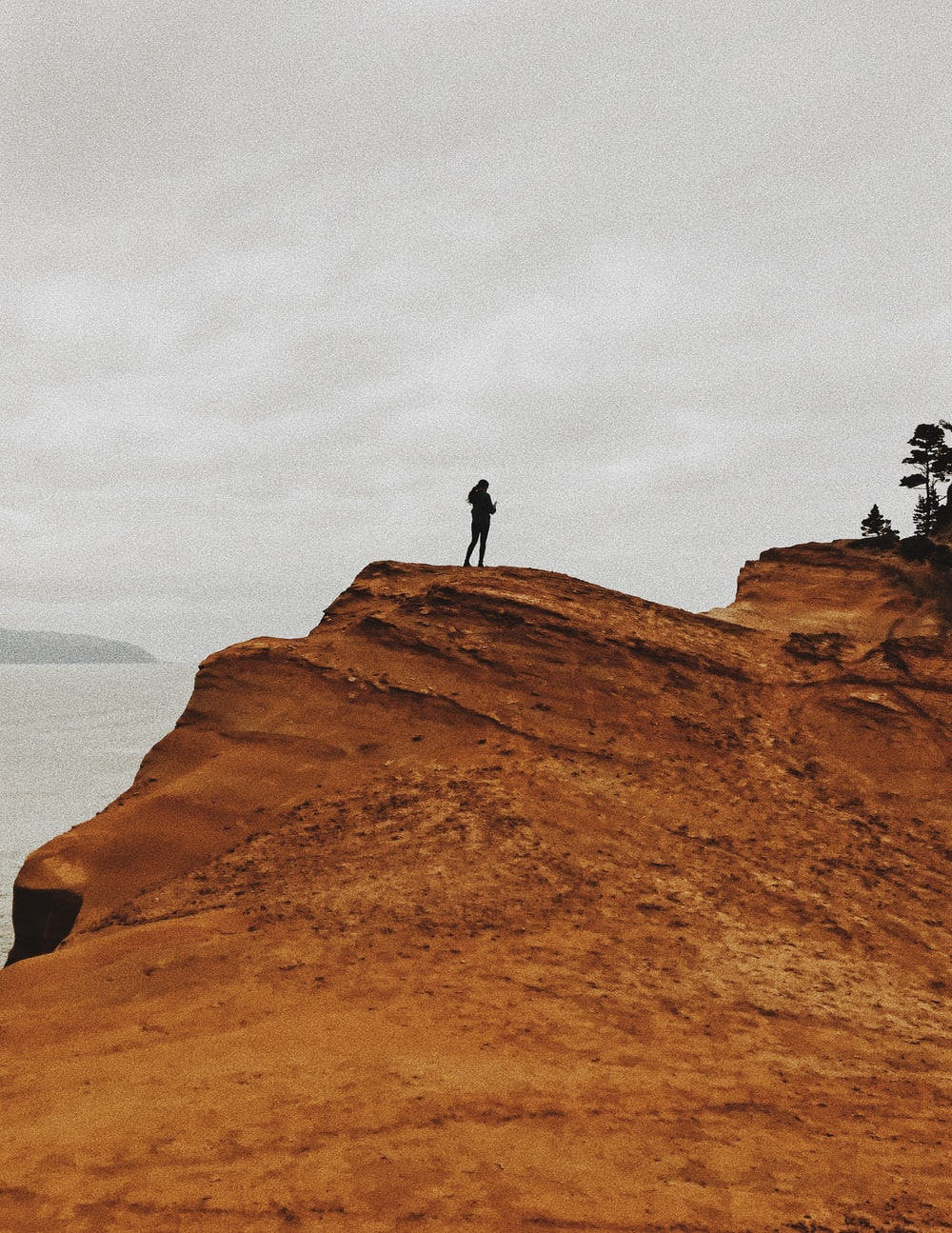 man on rock formation
