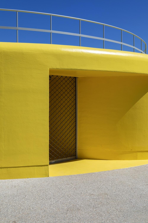 yellow building