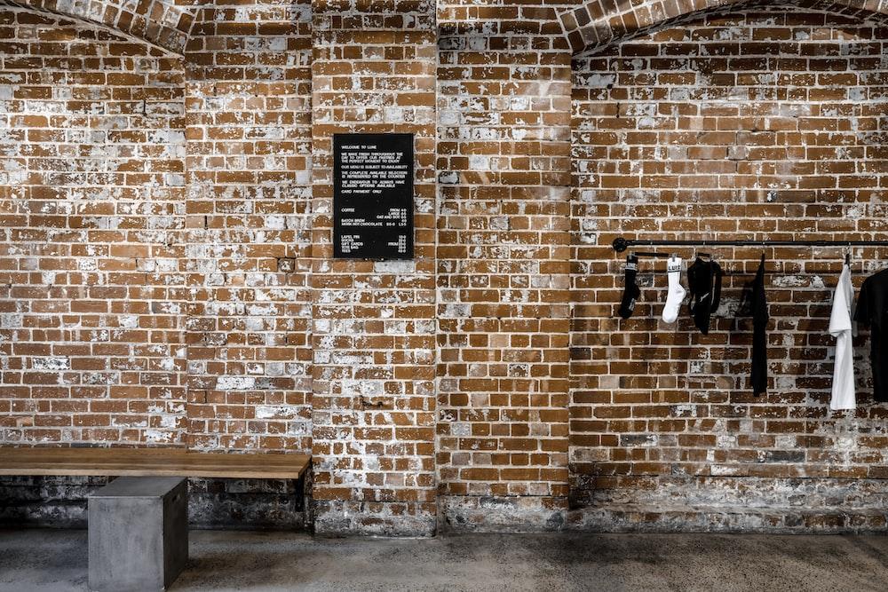 brown brick walls