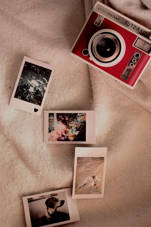 red bridge camera on bed