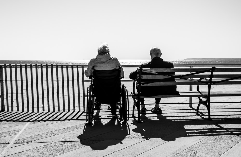 couple sitting on the bench