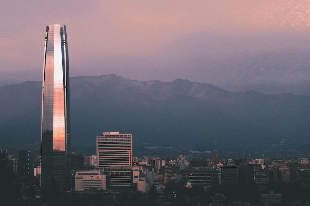 landscape photo of a city skyline at dusk