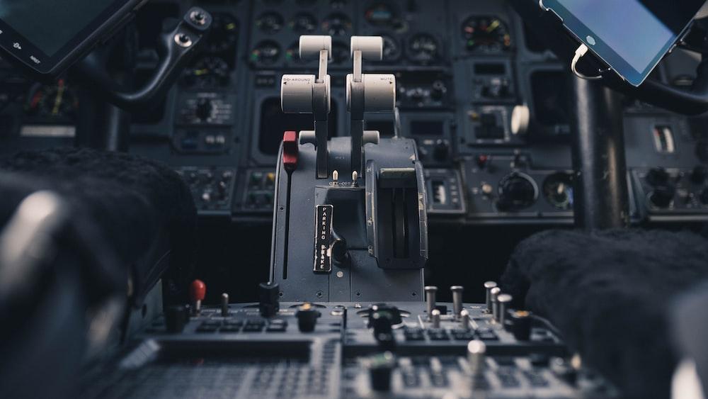 airplane instrument panel