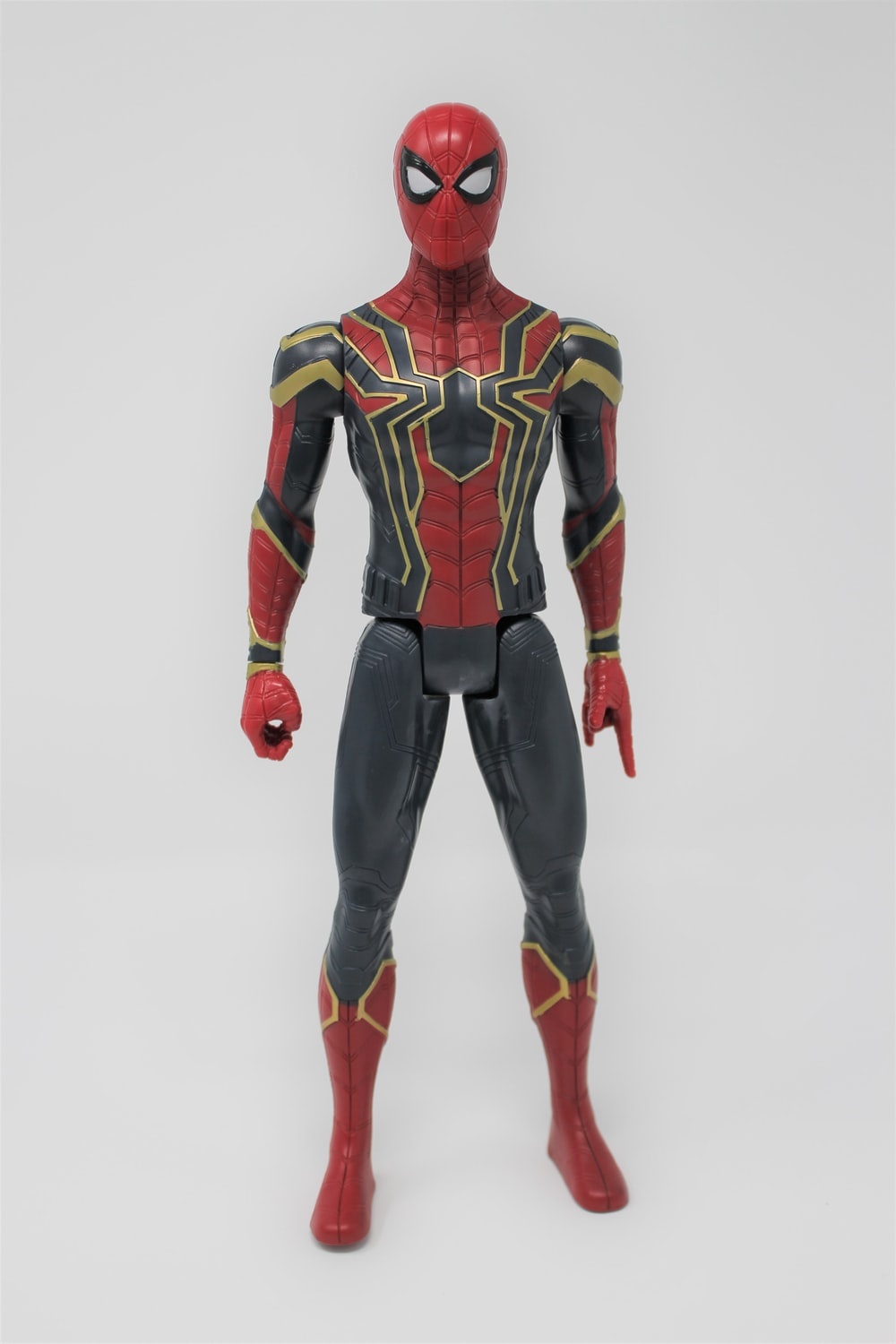 Marvel's Spider-man action figure in his Iron Spider suit