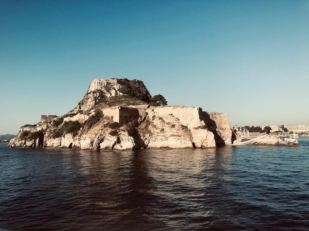 brown rocky island