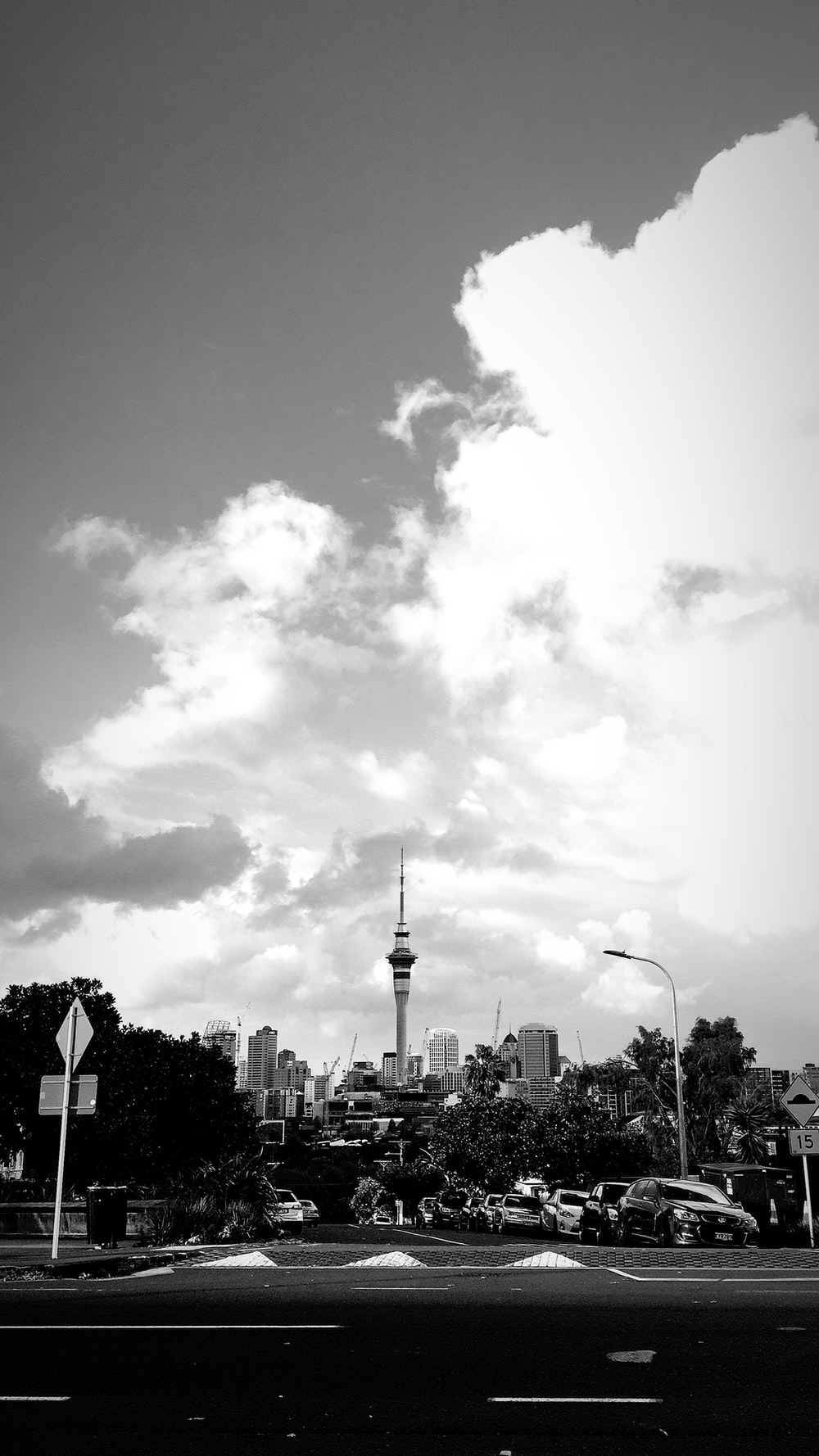 grayscale photography of CN Tower, Canada